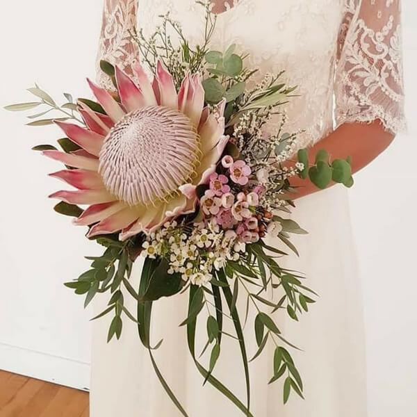 Bouquet sposa protea