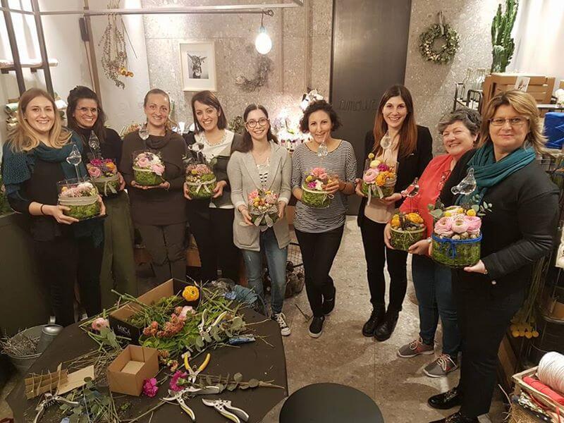 Workshop fiori e vetro