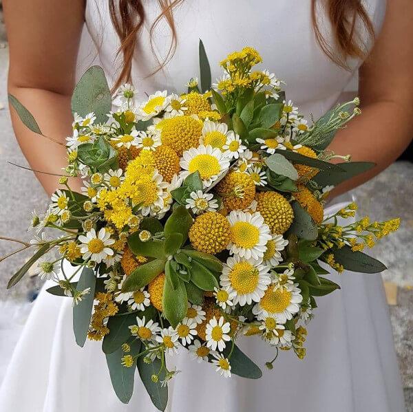Bouquet craspedia