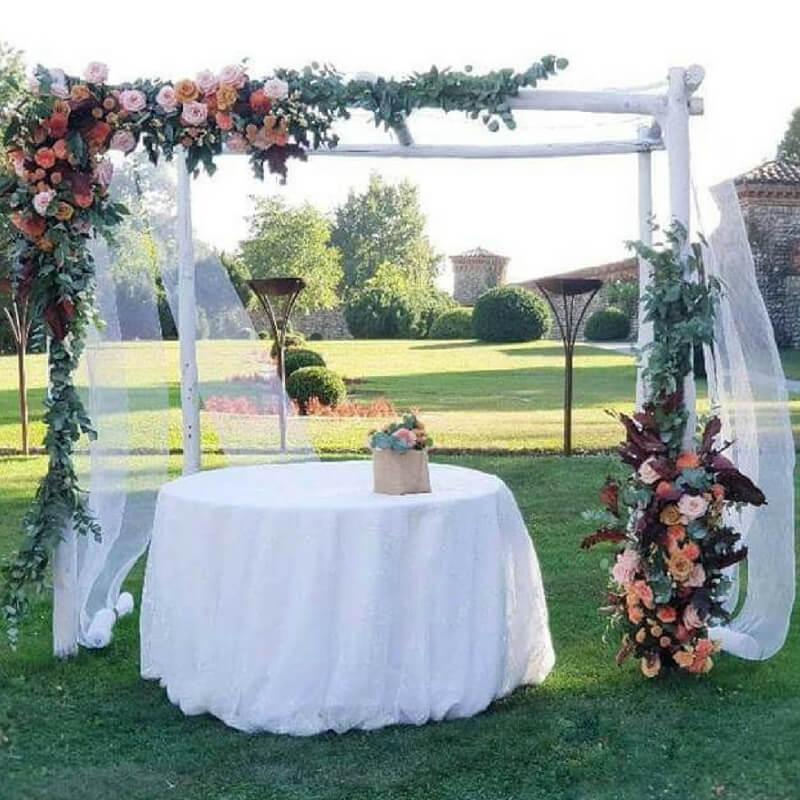 Allestimento matrimonio gazebo autunno